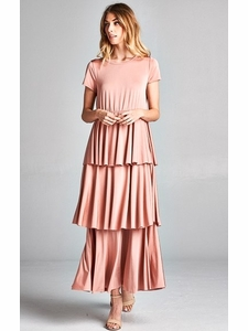 7b22bd5055f Ava Long Modest Maxi Dress or Bridesmaid Dress in Blush Pink