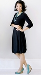 """Ava"" Modest Dress in Black Midnight"