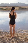 """Avery"" Modest Tankini Top in Black *Final Sale*"