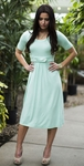 """Bailey"" Modest Dress in Mint"