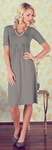 """Bailey"" Modest Dress in Slate"