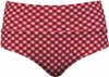 Banded Midrise Tankini Bottom in Red Gingham