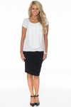Belle Modest Pencil Skirt in Black (Available in Regular & Tall) *Final Sale*