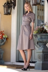"""Brecken"" Modest Dress in Stone"