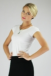 """""""Cap Sleeve"""" Modest Top in White"""