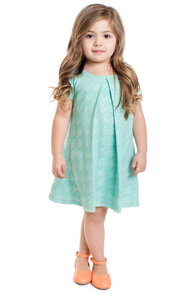Modest Little Girl Dress in Mint, Flower Girl Dresses