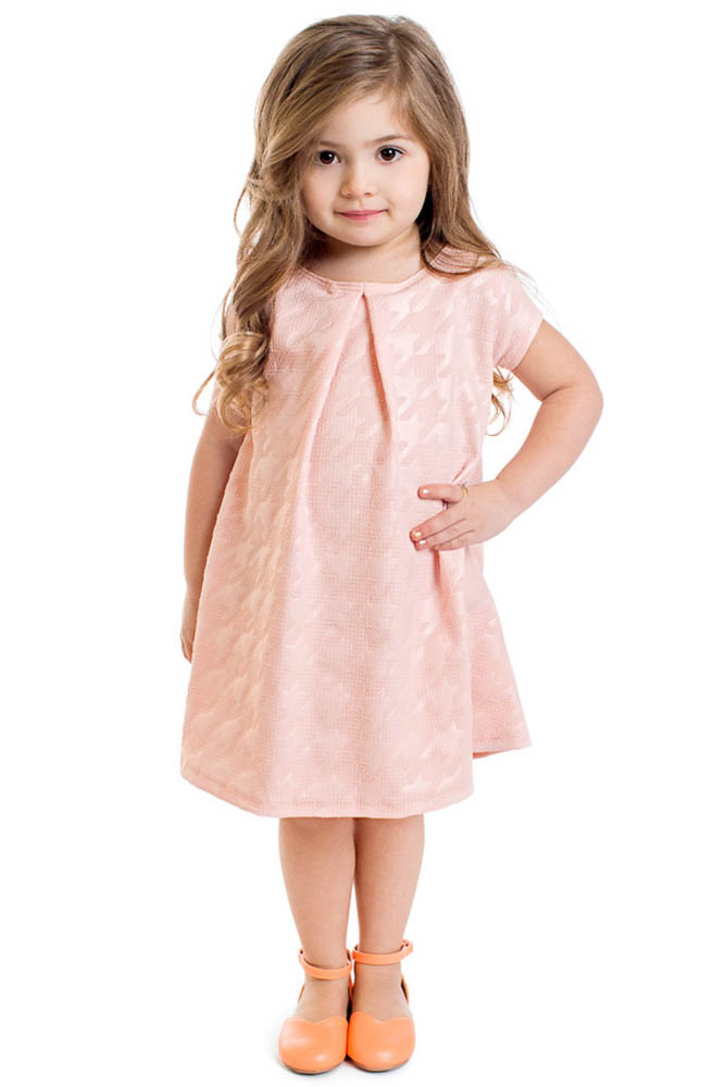 Modest Little Girl Dress in Pink, Flower Girl Dresses
