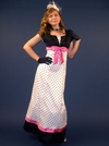 """Dottie w/Fuchsia"" Modest Prom Dress/Gown"