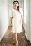 """Emmy"" Modest Dress in Cream Lace"