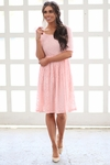 """""""Emmy"""" Modest Dress in Sweetheart Pink Lace"""