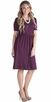 """Erin"" Modest Dress in Deep Plum Purple *RESTOCKED*"