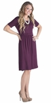 """Erin"" Modest Dress in Deep Plum Purple"