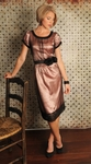 """Evelyn"" Modest Dress in Pearl Pink"