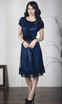 """Evelyn"" Modest Dresses in Midnight Blue"