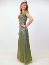 """""""Fairy Tale"""" Modest Prom Dress in Iridescent Green"""