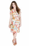 """""""Gina"""" Modest Dress in Floral Print *Final Sale*"""