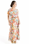 """Giselle"" Modest Maxi Dress in Floral Print"