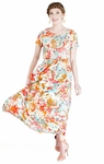 """""""Giselle"""" Modest Maxi Dress in Floral Print"""