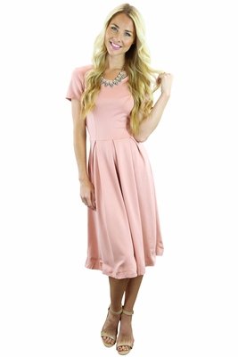 """Grace"" Modest Dress in Blush Pink *RESTOCKED*"