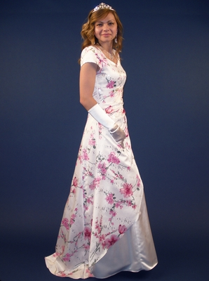 """""""In Full Bloom"""" Modest Prom Dress/Gown"""
