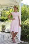 """Isabel"" Modest Dress in Light Pink"