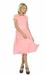 """""""Isabel"""" Modest Dress in Baby Pink"""