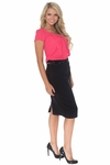 Ivy Belted Pencil Skirt in Black (Available in Regular & Tall) *Final Sale*