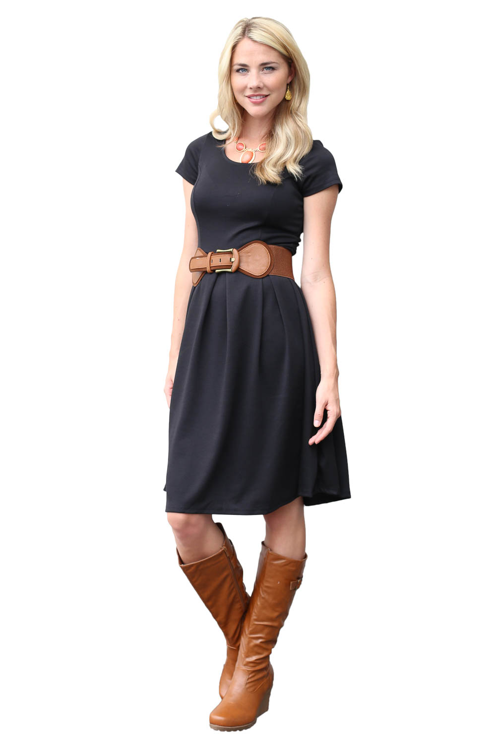 Ivy Modest Dress In Black