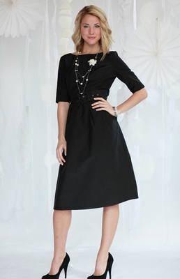 """Jackie"" Modest Dress in Black"