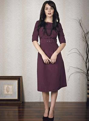 """Jackie"" Modest Dress in Plum"