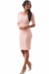 """June"" Modest Dress or Bridesmaid Dress in Peach Lace"