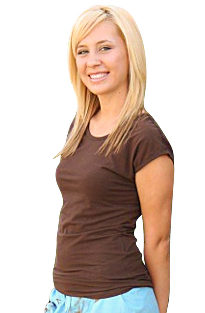 Modest Tops: Basic Modest Cap Sleeve Top in Brown