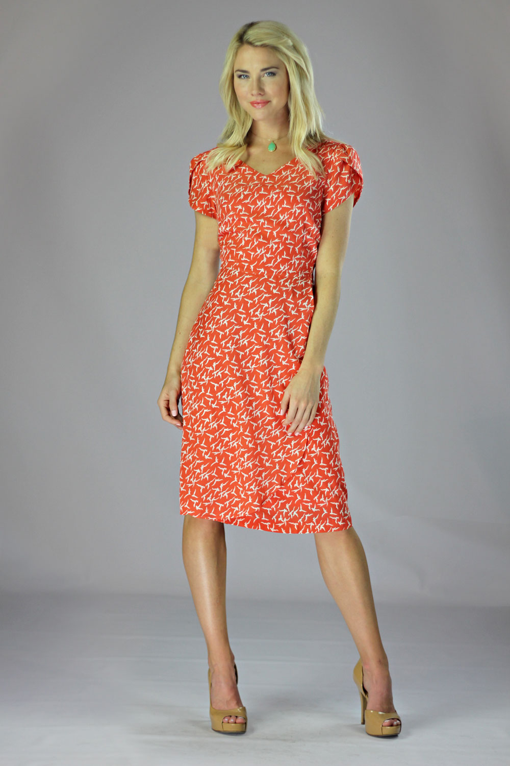 gorgeous coral dress outfit dress