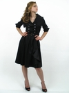 """Lucille"" 50's Style Black Modest Dress"