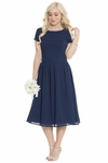 Lucy Modest Bridesmaid or Semi-Formal Dress in Dark Navy Blue