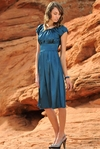 """Madison"" Modest Formal Dress in Blue"