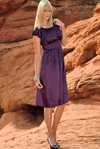"""Madison"" Modest Formal Dress in Purple"