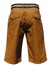 Men's Chino Knee-Length Shorts w/Belt in Wheat *Final Sale*