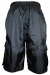 Men's Knee-Length Cargo Sport Shorts in Black *Final Sale*