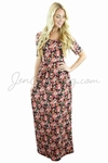 """Miranda"" Modest Maxi Dress in Small Floral Print"
