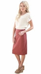 Modest Pencil Skirt in Mauve, Sister Missionary Skirt