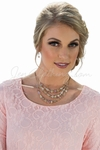 Multi-Strand Pink & Cream Beaded Necklace w/Earrings