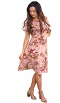 """Nessa"" Modest Dress in Mauve Floral Print"