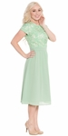 Olivia Modest Lace Semi-formal or Bridesmaid Dress in Sage Green