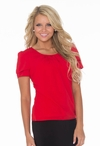 """""""Pleated Collar"""" Top in Red *Final Sale*"""