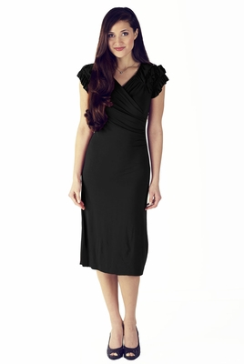 """Rebecca"" Modest Dress in Black"