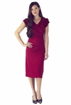 """Rebecca"" Modest Dress in Red"