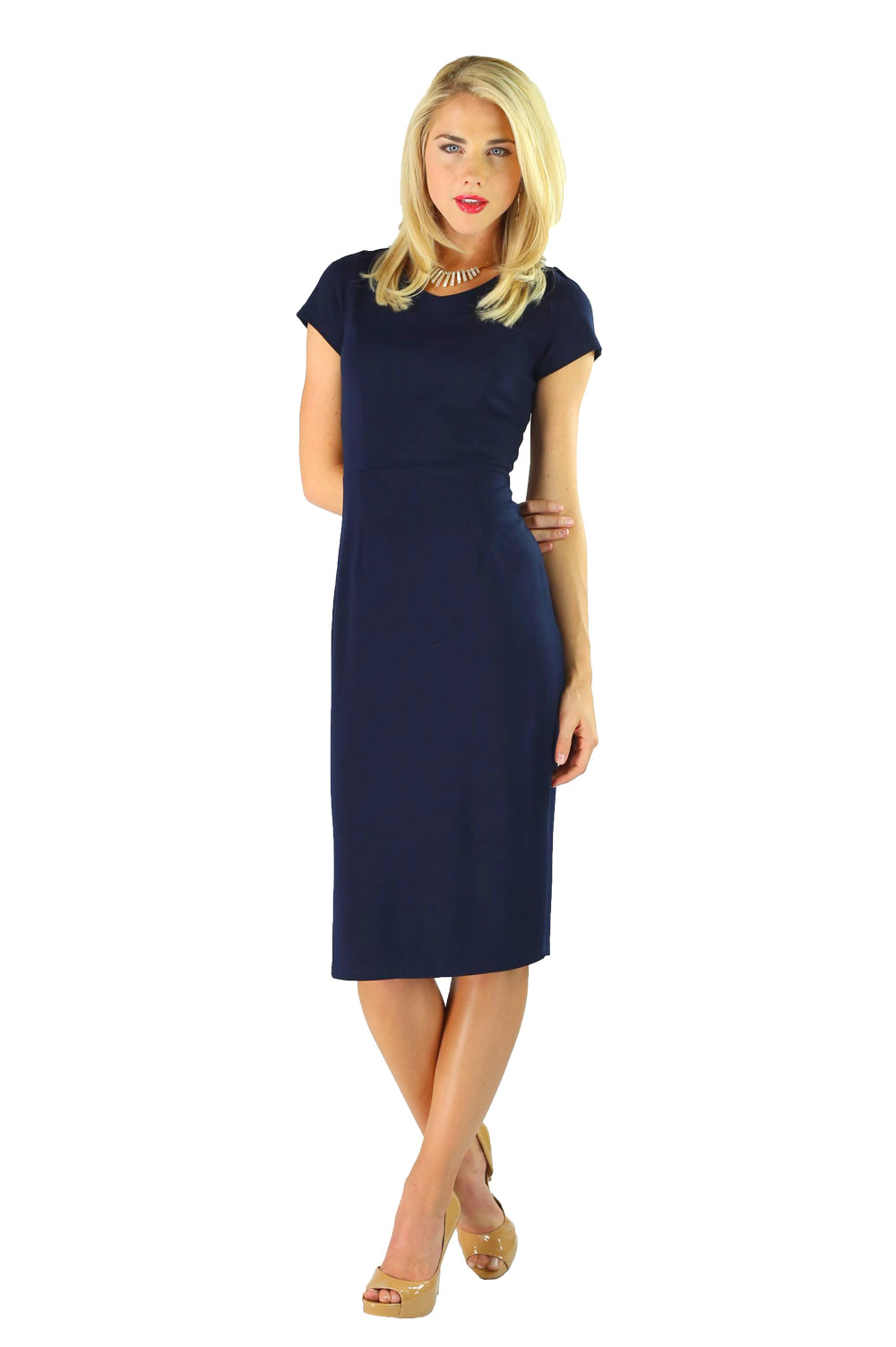 Modest Dresses: Sara in Navy Blue