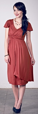 """Serena"" Modest Dresses in Cinnamon"