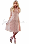"""""""Sloan"""" Modest Dress in Blush Pink Lace"""